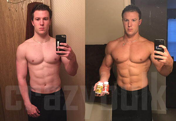 bulking Stack before after